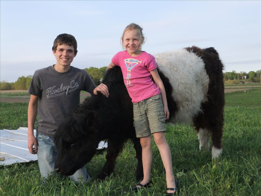 Winter and Maia with Beltie