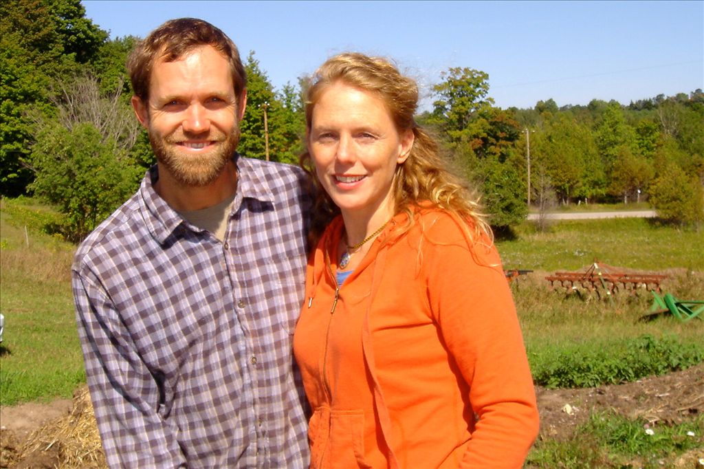 Andrea & Ryan, owners of Providence Organic Farm